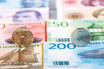 Korona norweska NOK - Monety i banknoty
